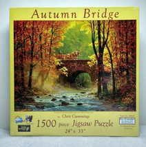 "Autumn Bridge 1500 Piece Puzzle 24"" x 33"" SunsOut ECO Friendly Wild Wing... - $24.99"