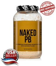 Naked PB 2lbs of 100% Premium Powdered Peanut Butter From US Farms Sugar... - $29.65