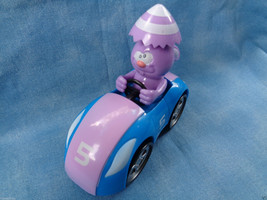 Easter Unlimited Bunny Plastic Racer Car Purple & Blue Cake Topper Toy 3... - $1.19