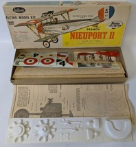 Vintage 1958 GUILLOW'S 'French NIEUPORT 11' WW1 Fighter Airplane Balsa M... - $95.00