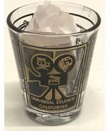 Universal Studio California Vintage Gold & Black Souvenir Shot Glass Cup... - $9.45