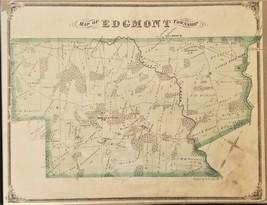 1875 antique EDGMONT TOWNSHIP MAP from Atlas PENNSYLVANIA r k lee - $34.95
