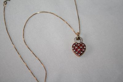 Suzanne Somers Red Enamel CZ Heart Pendant Necklace  J294