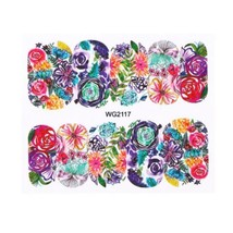 HS Store - 1Pcs WG-2117 Flower Designs Nail Sticker Water Transfer DIY - $2.23