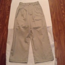 Boys Size 8 Slim George pants uniform khaki pleated front  - $4.25