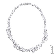 Bejeweled Cubic Zirconia Collar Necklace - $231.00