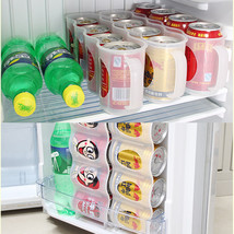 4 Case Organizer Beer Storage Box Kitchen Frige Beverage Drinking Bottle... - $7.98