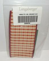 Longaberger Handle Tie Medium Orchard Plaid New In Bag 2599296 Fabric  - $9.85