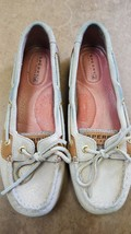 SPERRY Top Sider Gold Glitter Slip on Boat Shoes 9102864 Size 6 M - $24.50