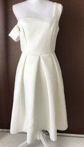 Women's Asos White Scuba Material Empire Waist Dress Size 8 - $28.05