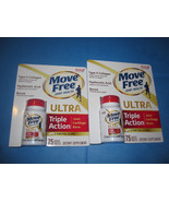 Schiff Move Free Ultra 2 Bottles 75 Tablets Supports Joints Cartilage Bone - $63.69