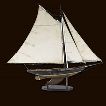 Newport Sloop Classic Boat Model Pond Yacht Collectible Vintage Era Sail... - $182.33