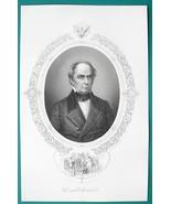 DANIEL WEBSTER Secretary of State Orator - 1856 Portrait Print Ornamenta... - $16.20