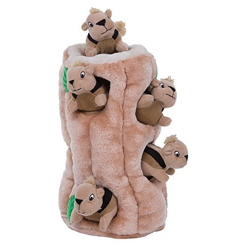 Squeaky Pet for Large Dogs Hide A Squirrel Puzzle Dog Toy Plush (Ginormous)