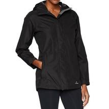 White Sierra Women's Hooded Zip-Front Rain Jacket, Black, Small - $32.18