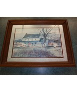 """Runulph Bye Watercolor Painting """"Country House"""" Framed Print Country Liv... - $72.74"""