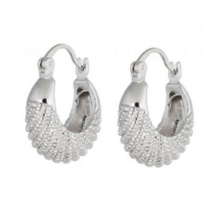 Pair of Fish Shape Alloy Hoop Earrings Silver - $201,94 MXN