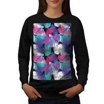 Color Feathers Jumper Vibrant Women Sweatshirt - $18.99