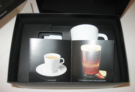 Nespresso Coffee Pure Collection Big Game 2 White Espresso Cups & Saucer... - £28.03 GBP