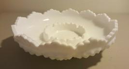 Fenton Art Glass Milk Glass Hobnail Round Pillar Candleholder Centerpiec... - $14.00