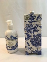 Michel Design Works Indigo Cotton Hand Body Lotion Shea Butter 8 Ounces New - $26.44