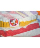 LITTLE MISS MATCHED Girls XS 3T-4T Orange Pink blue Yellow striped leggi... - $9.95