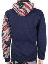 Men's US American Flag Athletic Zip Up Hoodie Jacket Jogger Pants Tracksuit Set image 3