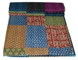 Indian Kantha Quilt Multi Patchwork Gudari Handmade Queen Bedspreads Thr... - £41.50 GBP