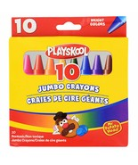 Playskool Jumbo Crayons for kids, non-toxic, 10 count Bright colors - $5.92
