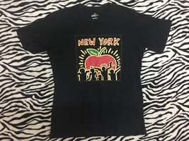 Vintage 80s Keith Haring T-Shirt Pop Art New York Design Andy Warhol Gra... - $65.00