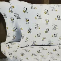 Berkshire Peanuts 4 Piece Snoopy Woodstock White Coffee Cup Full Sheet Set - $42.70