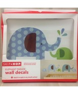 SKIP HOP Elephant Parade Wall Decals Blue Green Dot Removable Nursery Ro... - $10.70
