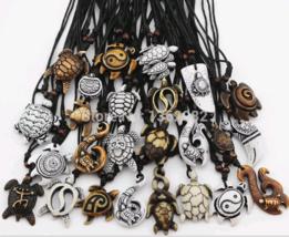 Sea Turtle Pendant, Necklace, Imitation Bone, Carved, Multiple Options - $3.99