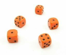Perudo Orange Dice Replacement Game Part Piece Plastic 2008 1808 Rounded Corners - $3.99