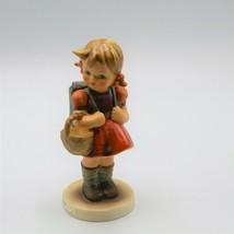 """Goebel School Girl Hummel Figurine 5"""" Germany TMK5 81/0 Near Mint - $27.08"""