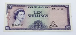 1960 Jamaica 10 Chelines Billete XF Estado Pick # 50 - $128.96