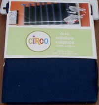 """Circo Window Valance - 54""""x15"""" - 100% Cotton - BRAND NEW IN PACKAGE - Navy Blue - $19.79"""