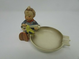 "VTG HUMMEL FIGURINE #33 JOYFUL ASHTRAY GIRL WITH MANDOLIN  4""H W GERMANY... - $9.85"