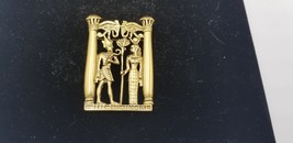 Vintage Gold Tone Egyptian Cleopatra With Ancient God With Horas Above EUC - $48.42