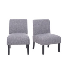 Set of 2 Linen Leisure Dining Chairs, Grey - $156.00