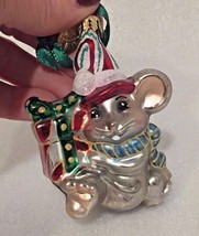"VTG Mouse HAND BLOWN Glass Christmas Tree ORNAMENT 3 inch HIGH ""R: on ta... - $6.42"