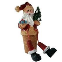 Christmas Santa Wine Bottle Stopper Cork Dangling Feet Christmas Resin T... - $9.99