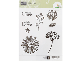 Stampin' Up! Love and Care Rubber Stamp Set #123022 - $11.99