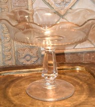 """Rare EAPG  Flint Glass Fruit Bowl Footed Compote 10""""W Riverside Glass Wo... - $99.99"""