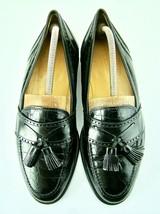Johnston & Murphy Black Genuine Alligator~Crocodile Tassel Loafers Size ... - $100.00