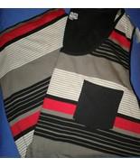 Mens cotton tank top 2XL striped black red grey... - $12.00