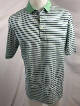 Polo Golf Ralph Lauren Verde e Blu a Righe Maglietta Golf Uomo Taglia M - $19.81