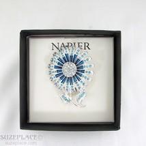 N API Er Blue Flower Brooch Pin New In Gift Box - $22.95