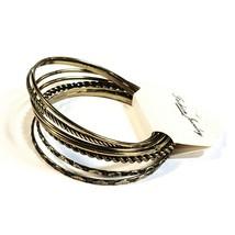 "Set of 7 Gold Tone Bangle Bracelets Various Designs 8"" Fashion Jewelry - $8.50"