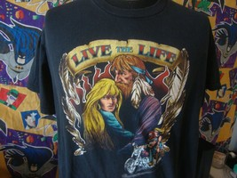 Vintage 90's Live the Life Motorcycle Biker T Shirt XL  - $49.49